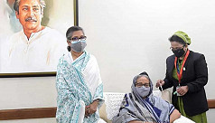 Watch: PM Sheikh Hasina receives Covid...