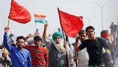 Indian farmers block highway outside...
