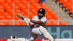 Pant puts India on top against...