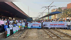 Commuters stage demo halting Dhaka-northern...