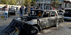 Karabakh city hit by heaviest shelling in month of fighting