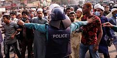 Sculpture Controversy: Protesters, police clash outside Baitul Mukarram Mosque